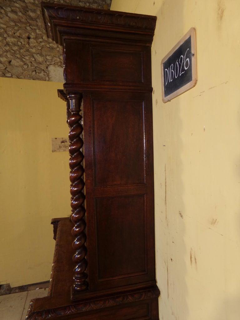 Carved Oak Hunts Bookcase Gun Cupboard, circa 1880 For Sale 2
