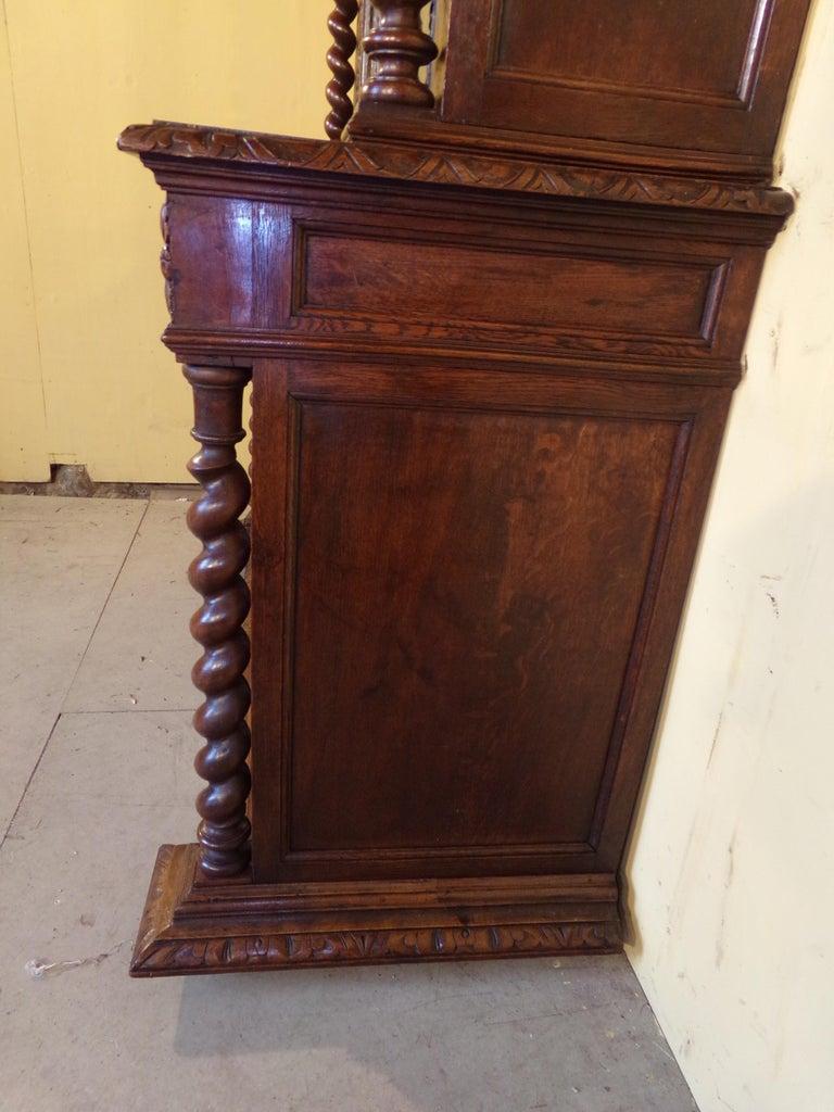 Carved Oak Hunts Bookcase Gun Cupboard, circa 1880 For Sale 3