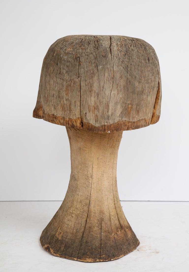 Carved Oak Mushroom For Sale 4