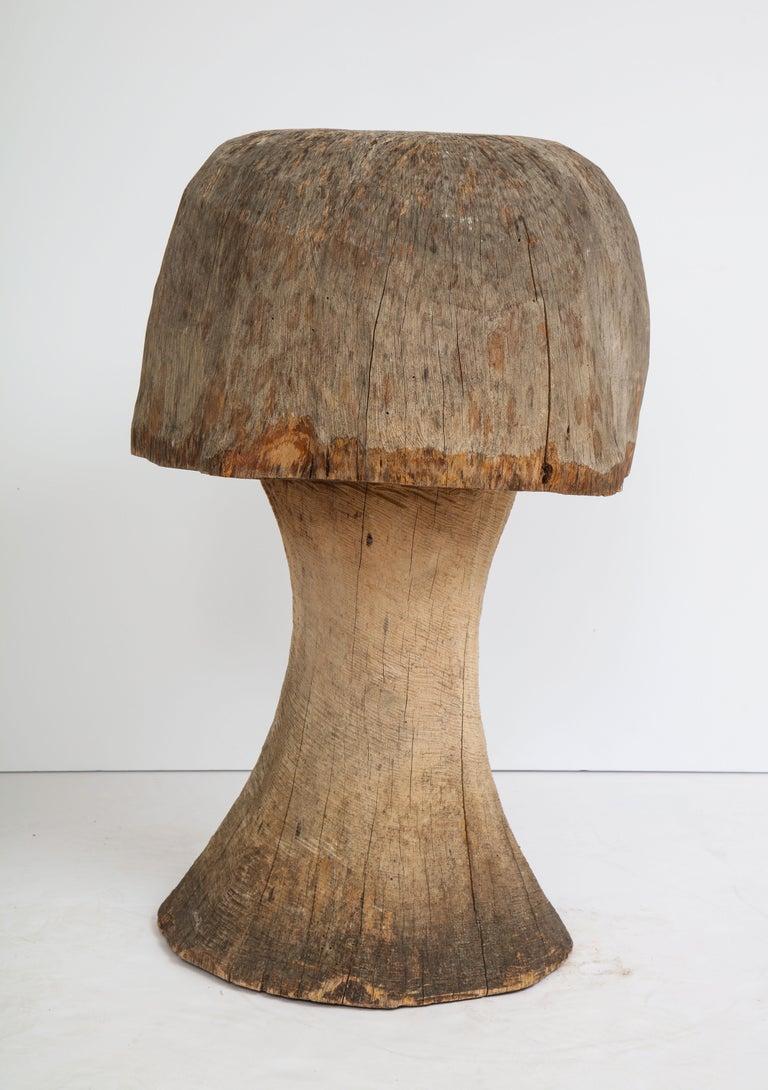 French Carved Oak Mushroom For Sale