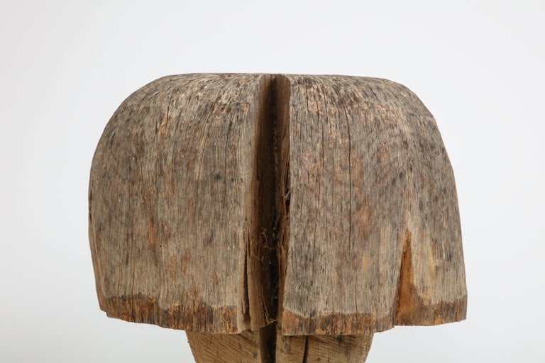 Carved Oak Mushroom In Good Condition For Sale In Mt. Kisco, NY