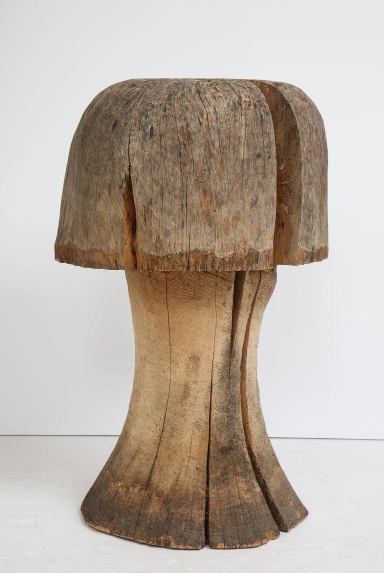 Carved Oak Mushroom For Sale 2
