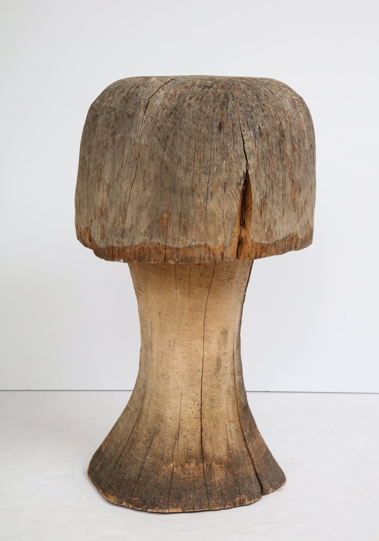Carved Oak Mushroom For Sale 3