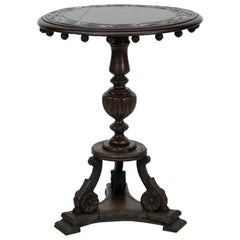 Carved Oak Occasional Table