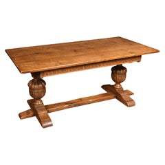 Carved Oak Refectory Table