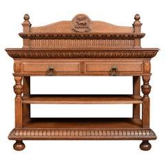 Carved Oak Serving Table