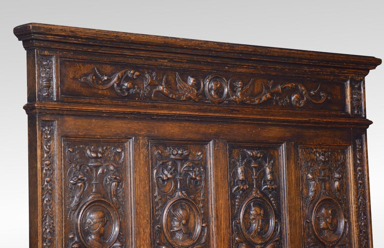 19th Century Carved Oak Settle in the 17th Century Style For Sale