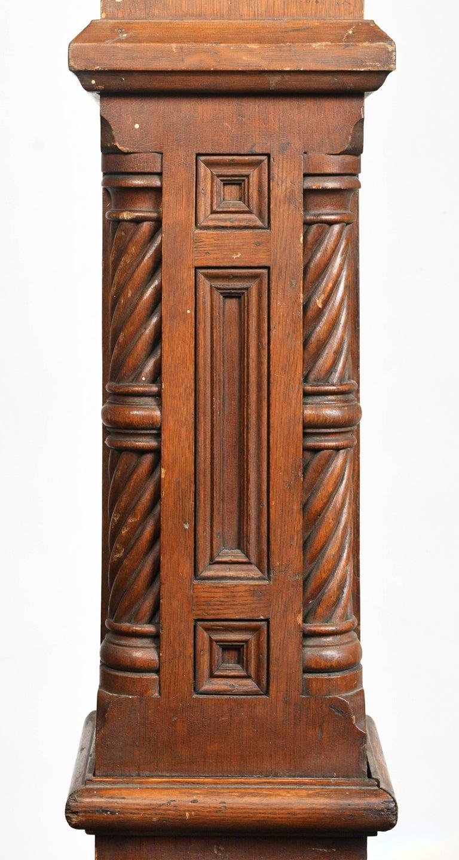 Carved Oak Victorian Newel Post At 1stdibs