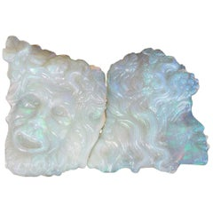 Carved Opal Faces