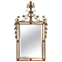 Carved Ornate Large Neoclassical Giltwood Wall Mirror