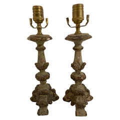Carved Pair of Sconces
