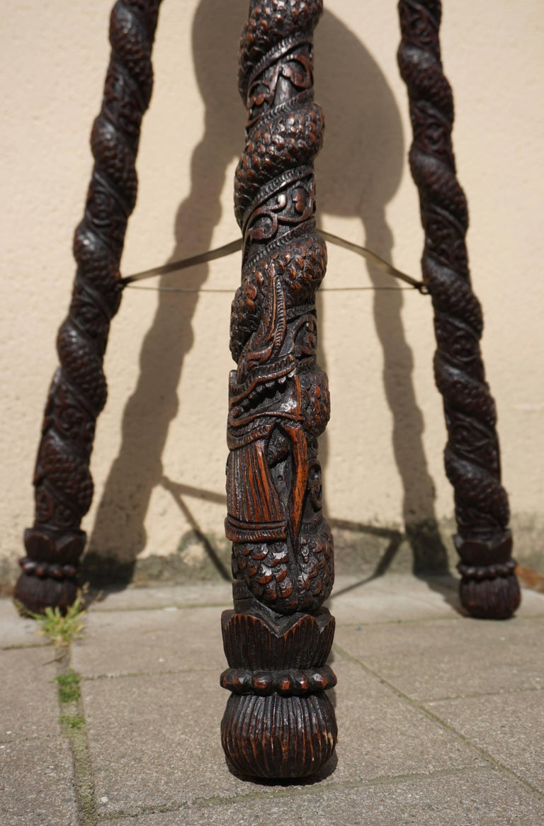 Carved Pedestal Table, India For Sale 5