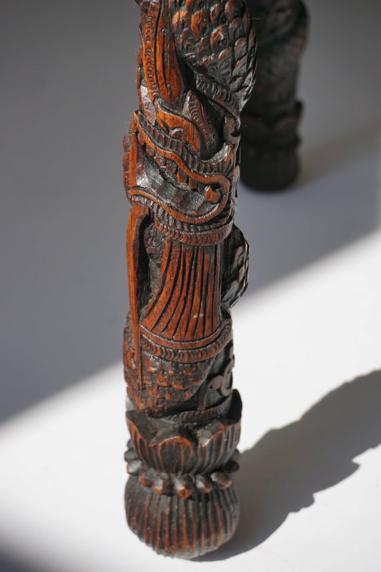 Carved Pedestal Table, India For Sale 2