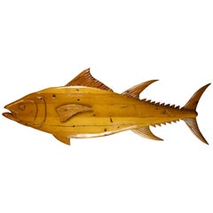 Carved Pine Fish from England