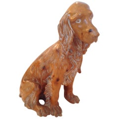 Carved Pine Irish Setter