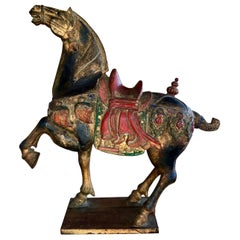 Carved Polychromed Chinese Horse