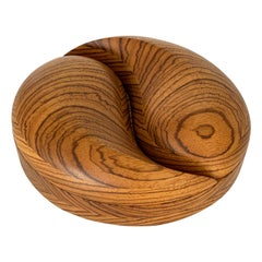 Carved Sculptural Zebrawood Box by Steven Spiro