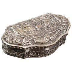 Carved Silver Box, 20th Century
