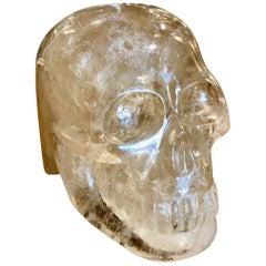 Carved Smokey Quarts Rock Crystal Skull