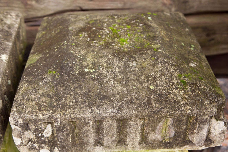 19th Century Carved Stone Columns For Sale