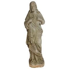 Carved Stone Jesus Garden Statue