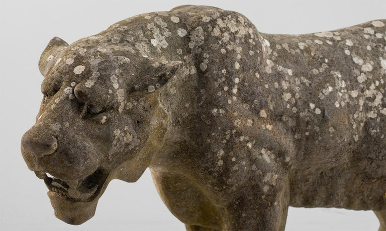 Carved Stone Lioness England, 20th Century In Good Condition For Sale In Culver City, CA