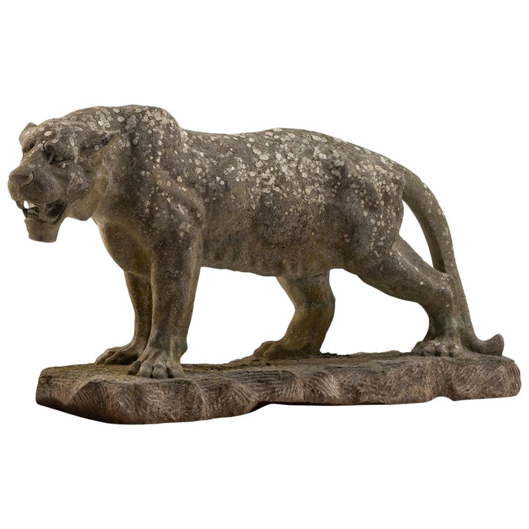 Carved Stone Lioness England, 20th Century For Sale