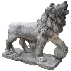 Carved Stone Medici Lion from Italy