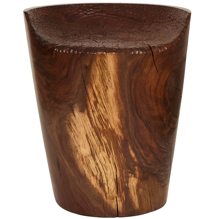 Carved Stool by Caleb Woodard