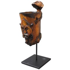 Carved Tattoo Ink Pot from Timor Island, Indonesia 'circa 1940s-1950s'