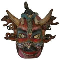 Carved Tibetan Ceremonial Mask