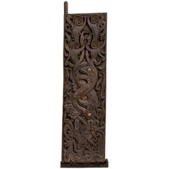 Carved Tribal Door Panel, Dayak of Borneo, Indonesia, Early to Mid-20th Century