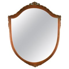 Carved Walnut Arch Top Mirror