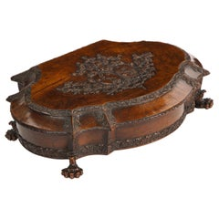 18th Century Carved Walnut Box