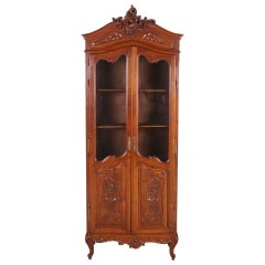 Carved Walnut Louis XV Style Bookcase
