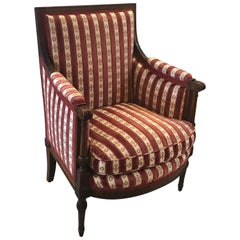 Carved Walnut Louis XVI Style Chair