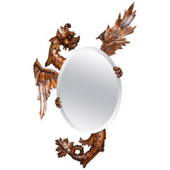 Carved Wood and Crystal Mirror, France, Late 19th Century