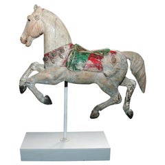 Carved Wood Carousel Horse