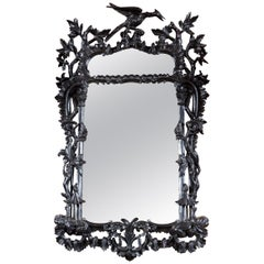 Carved Wood Chinoiserie Mirror