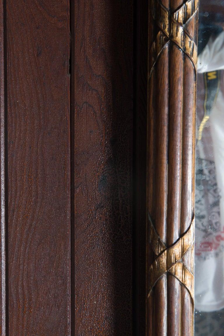 Carved Wood and Églomisé Mirror For Sale 4