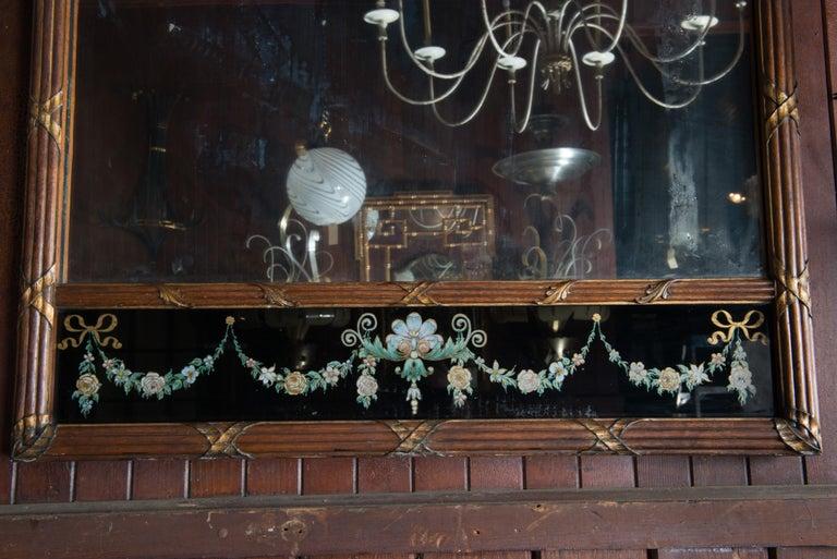 Carved Wood and Églomisé Mirror For Sale 1