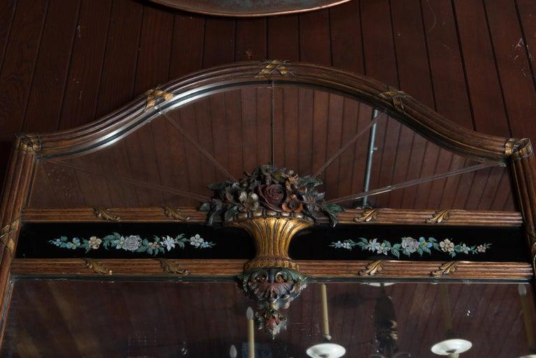 Carved Wood and Églomisé Mirror For Sale 2