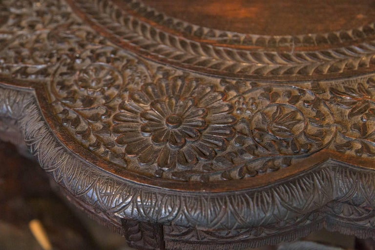 Carved Wood Elephant Table For Sale 6