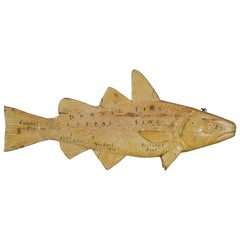 Carved Wood Fish Trade Sign