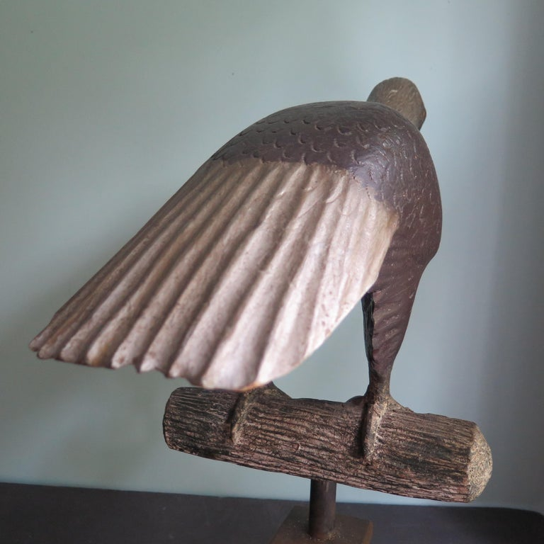 Carved Wood Folk Art Eagle by Axel Gustafson For Sale 1