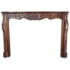 Carved Wood French Style Mantel