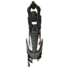 Carved Wood Hook Figure Papua New Guinea