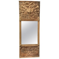 Carved Wood Mirror, France, 19th Century