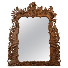 Carved Wood Rococo Style Mirror, 19th Century