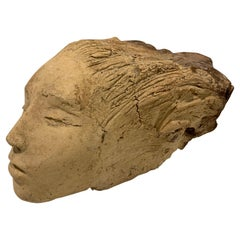 Carved Wood Sculpture of a Female Figure